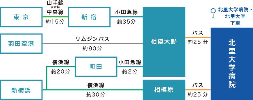 小田急線・相模大野からバスで約20分、または横浜線・相模原からバスで約20分